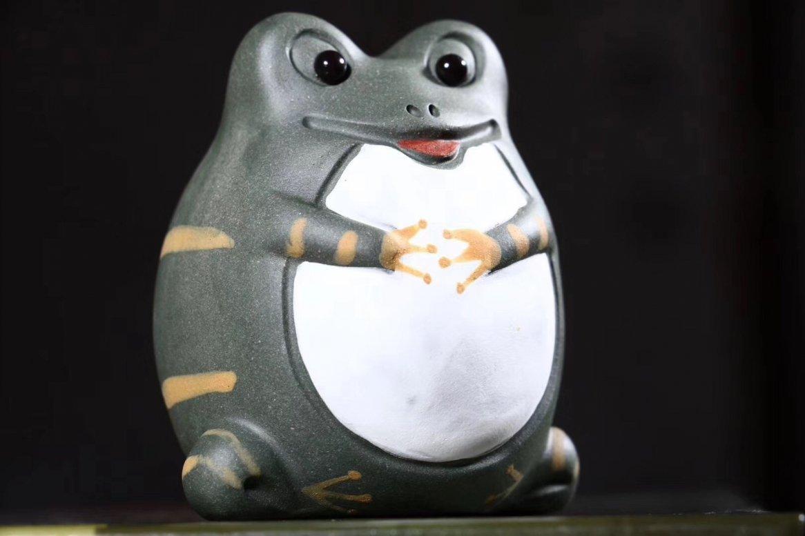 悠然紫砂作品 青蛙